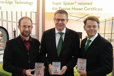 Super Spacer erhält Award des Passivhaus Instituts